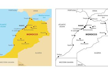 Morocco Map Vector - бесплатный vector #159649