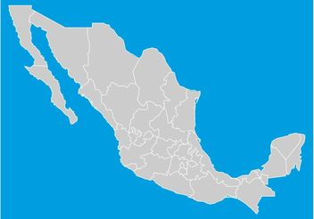 Mexico States Map - vector #159679 gratis