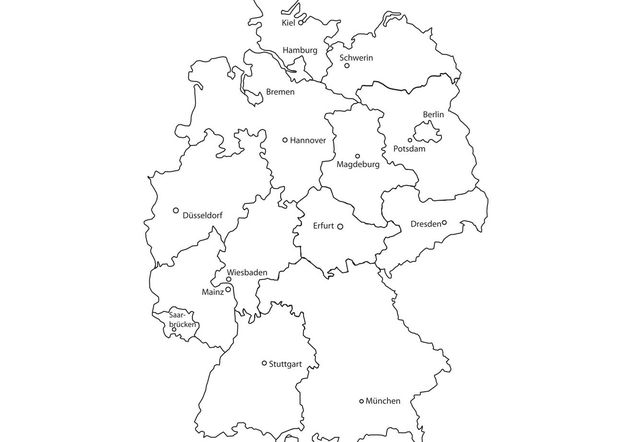 Deutschlandkarte Germany Map Vector Kostenloser Vektor Download