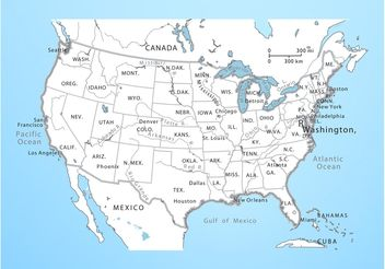 USA Vector Map - Kostenloses vector #159699