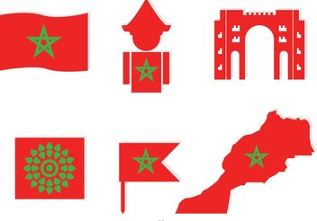 Morocco Element Icons Vector - Free vector #159719