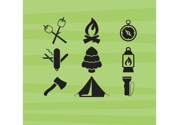 Camping Vector Icons - vector gratuit #159759