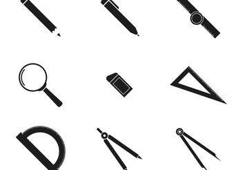 BW Architecture Icons - Free vector #159779