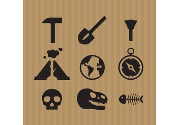 Archeology Icon Vectors - Free vector #159869