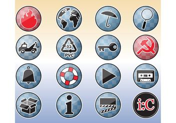 Tools Icons Buttons - vector gratuit #159909