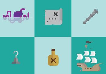 Pirate Vector Icons - бесплатный vector #159949