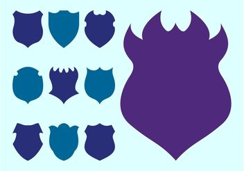 Shield Silhouettes Set - vector gratuit #159999