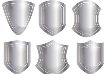 Shield Shape Vector Set - vector #160039 gratis
