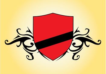 Red Shield Vector - Free vector #160089