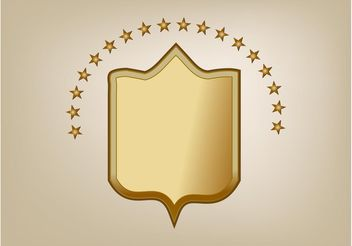 Bronze Shield Vector - Free vector #160099