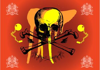 Grunge Skull Graphics - Free vector #160259