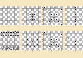 Vector Chess Movements - vector gratuit #160389