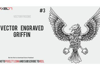 Weekly Freebie #3: Vector Engraved Griffin - vector gratuit #160419