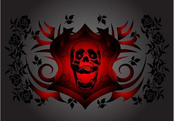 Skull And Roses - vector gratuit #160469