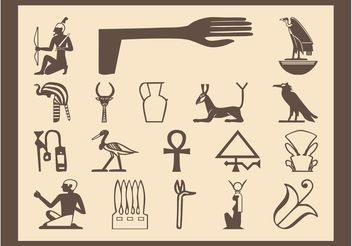 Egyptian Symbols Set - Free vector #160549