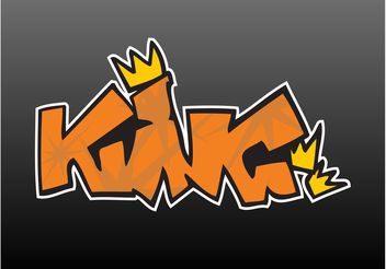 King Graffiti - vector gratuit #160579