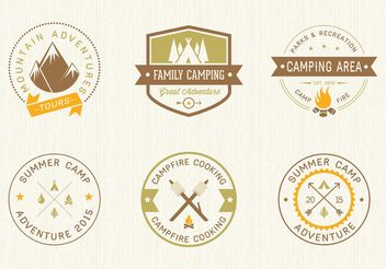 Free Camping Vector Labels - бесплатный vector #160599