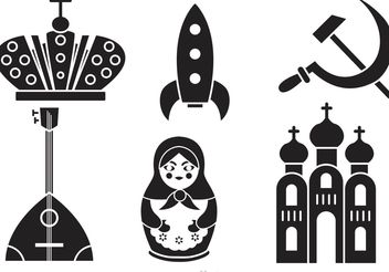 Russian Culture Vector Icons - Free vector #160609