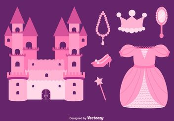 Princess Vector Set - Kostenloses vector #160619