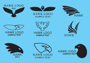 Hawk Logo Vectors - бесплатный vector #160629