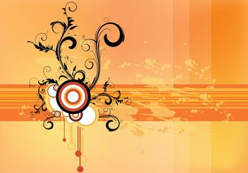 Grunge Scroll Vector Wallpaper - Free vector #160639