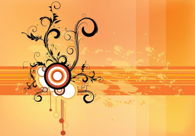 Grunge Scroll Vector Wallpaper - vector gratuit #160639