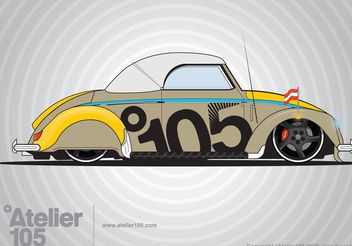 Volkswagen Beetle Graphics - Free vector #160649