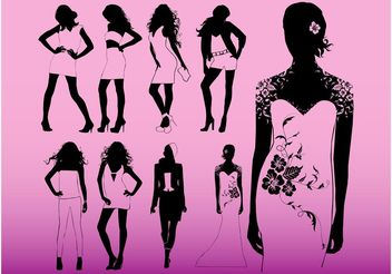 Model Girls - vector #160689 gratis