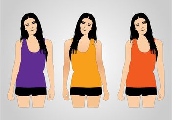 Tank Top Models - vector gratuit #160709