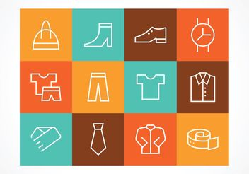 Free Outline Fashion Vector Icons - Free vector #160739