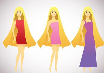 Barbie Vector Pack - Free vector #160759
