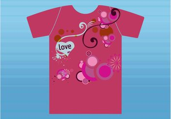 Romantic T-Shirt - бесплатный vector #160849