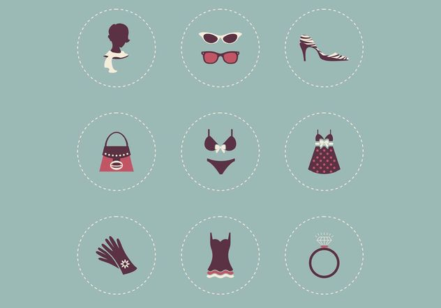 Free Female Clothing Vector Icons - бесплатный vector #160869