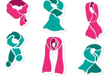Set Of Neck Scarf Vector Pack 1 - Free vector #160909