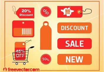 Discount Labels Vector - vector gratuit #160919