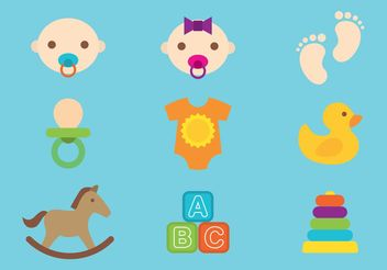 Babies And Toys Vectors - vector gratuit #161069