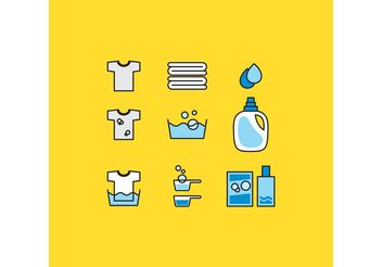 Laundry Vector Icons - vector gratuit #161079