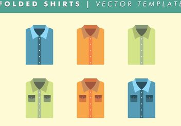 Basic Folded Shirt Template Vector Free - бесплатный vector #161109