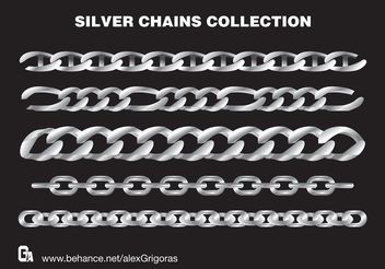 Silver Chains Vector Collection - бесплатный vector #161119