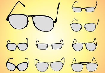 Glasses Vectors - vector #161159 gratis
