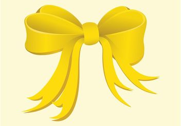 Yellow Bow - vector gratuit #161199