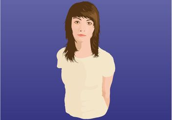 Brunette Girl - vector #161239 gratis