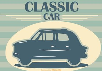 Classic Car Vector Poster - Free vector #161249
