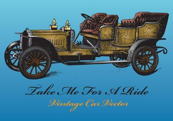 Antique Car Vector - Free vector #161279