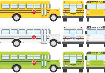 School Bus Vectors - vector gratuit #161309