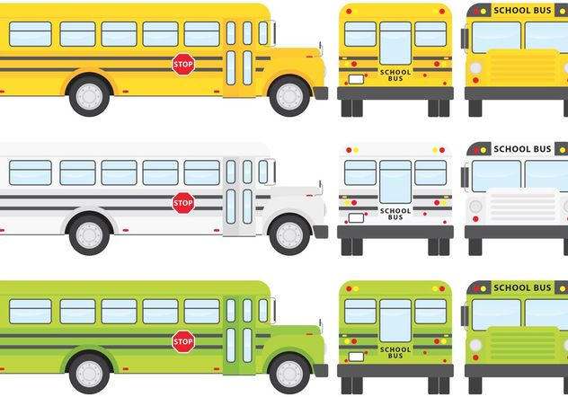 School Bus Vectors - Free vector #161309