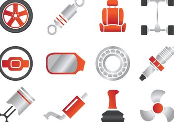 Car Part Vectors - Free vector #161329