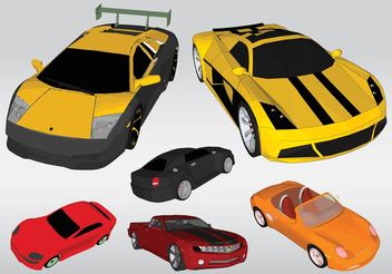 Racing Cars Vectors - vector gratuit #161419
