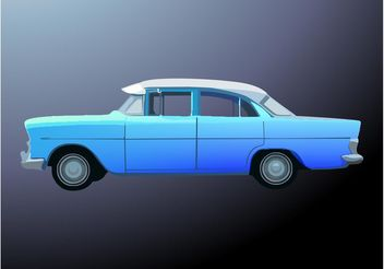 Blue Car - vector gratuit #161449