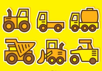 Cartoon Dump Trucks Vectors - Free vector #161469